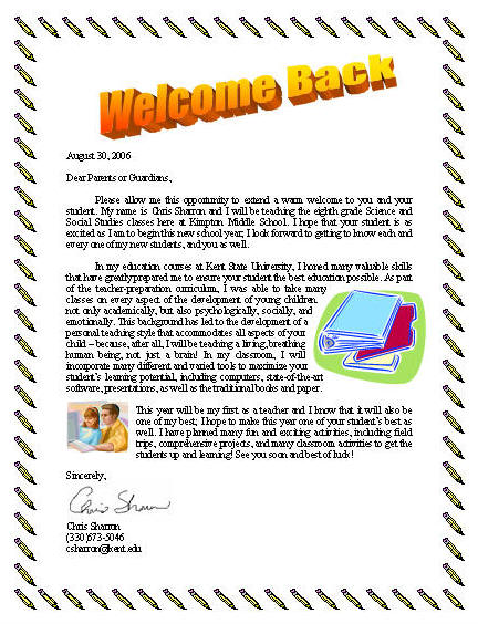welcome back to school letter beautiful welcome back to school letter cover letter 27156