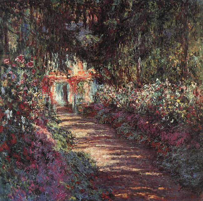 Сад в цветах.  1900 Холст, масло